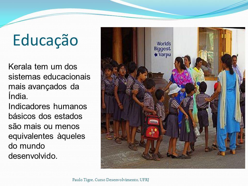 Educação Paulo Tigre, Curso Desenvolvimento, UFRJ Kerala tem um dos sistemas educacionais mais avançados da Índia.