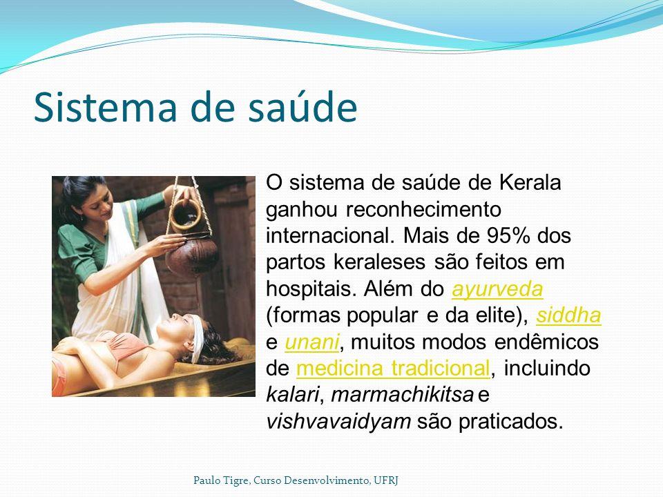 Sistema de saúde Paulo Tigre, Curso Desenvolvimento, UFRJ O sistema de saúde de Kerala ganhou reconhecimento internacional.