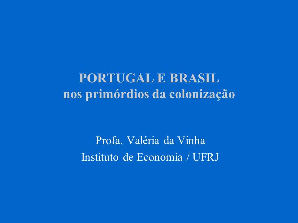 PORTUGAL E BRASIL nos primórdios da colonização Profa. Valéria da Vinha Instituto de Economia / UFRJ