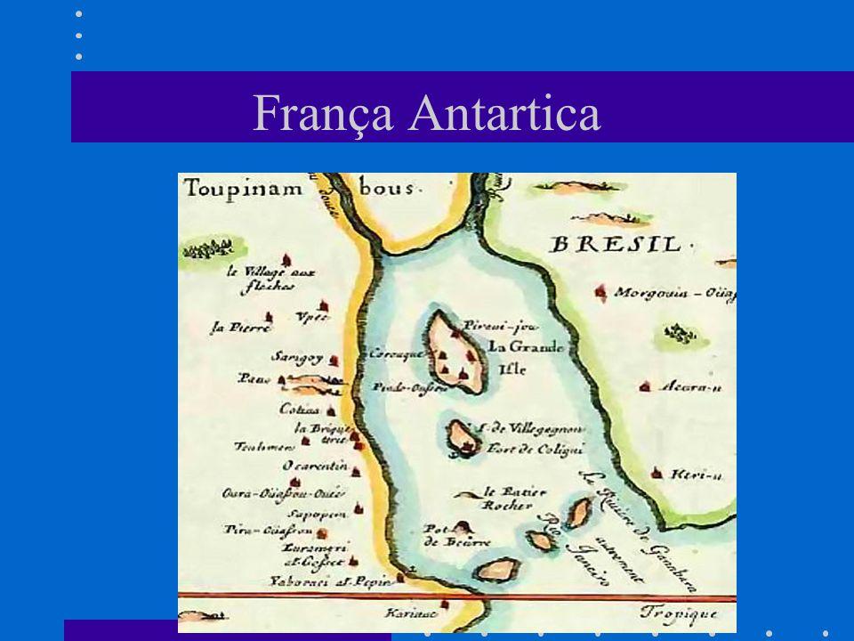 Mapa Baía da Guanabara (1555) Mapa francês da baía de Guanabara, c.