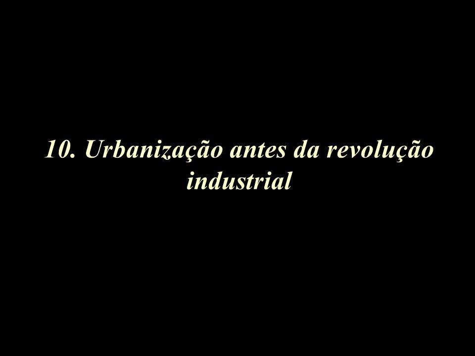 10. Urbanização antes da revolução industrial