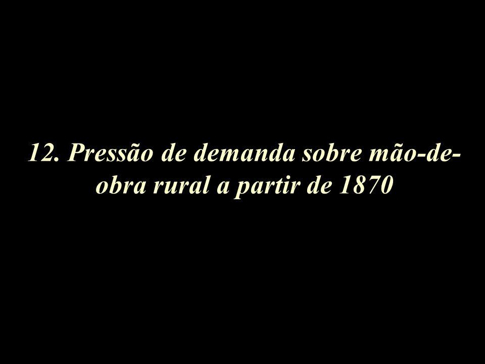 12. Pressão de demanda sobre mão-de- obra rural a partir de 1870