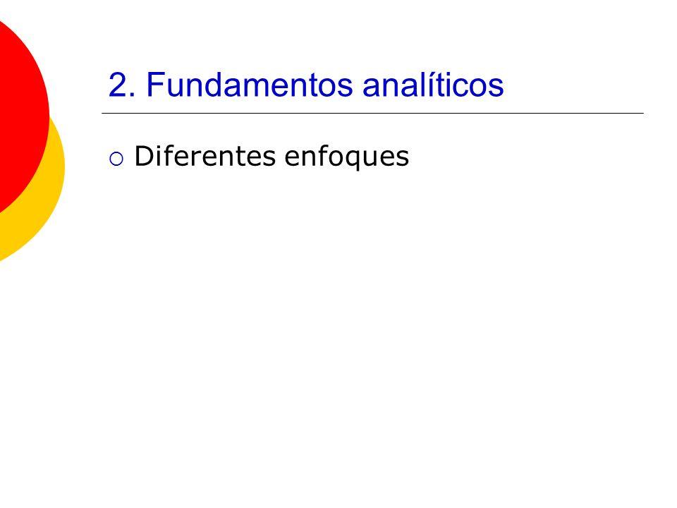 2. Fundamentos analíticos Diferentes enfoques