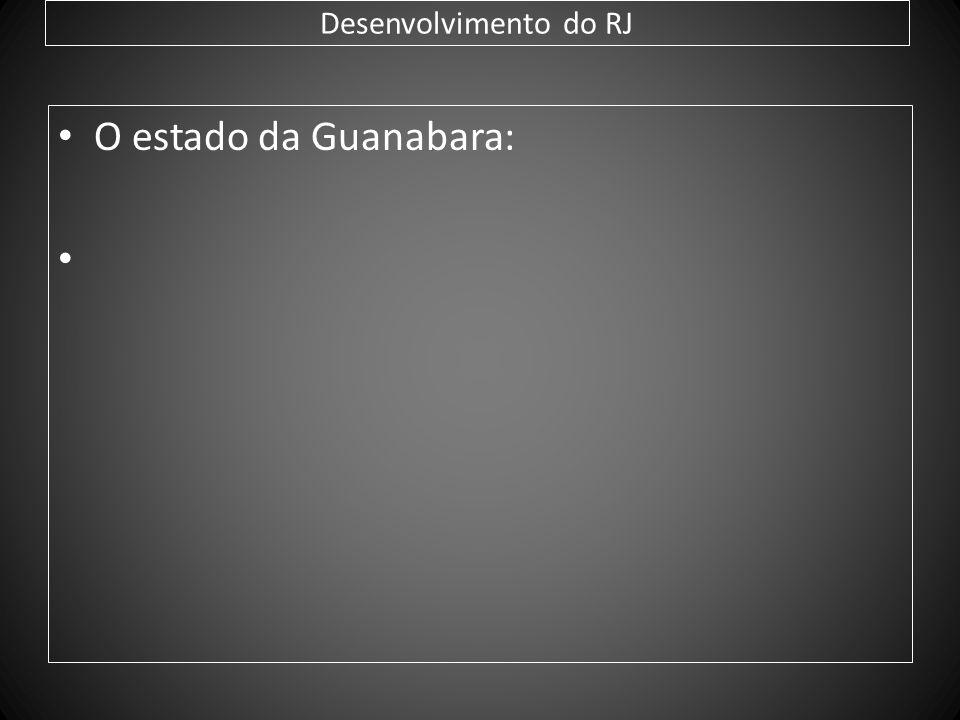 Desenvolvimento do RJ O estado da Guanabara: