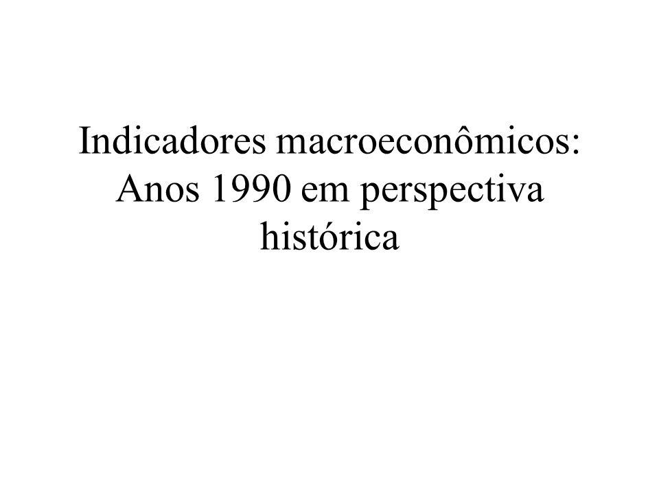 Indicadores macroeconômicos: Anos 1990 em perspectiva histórica