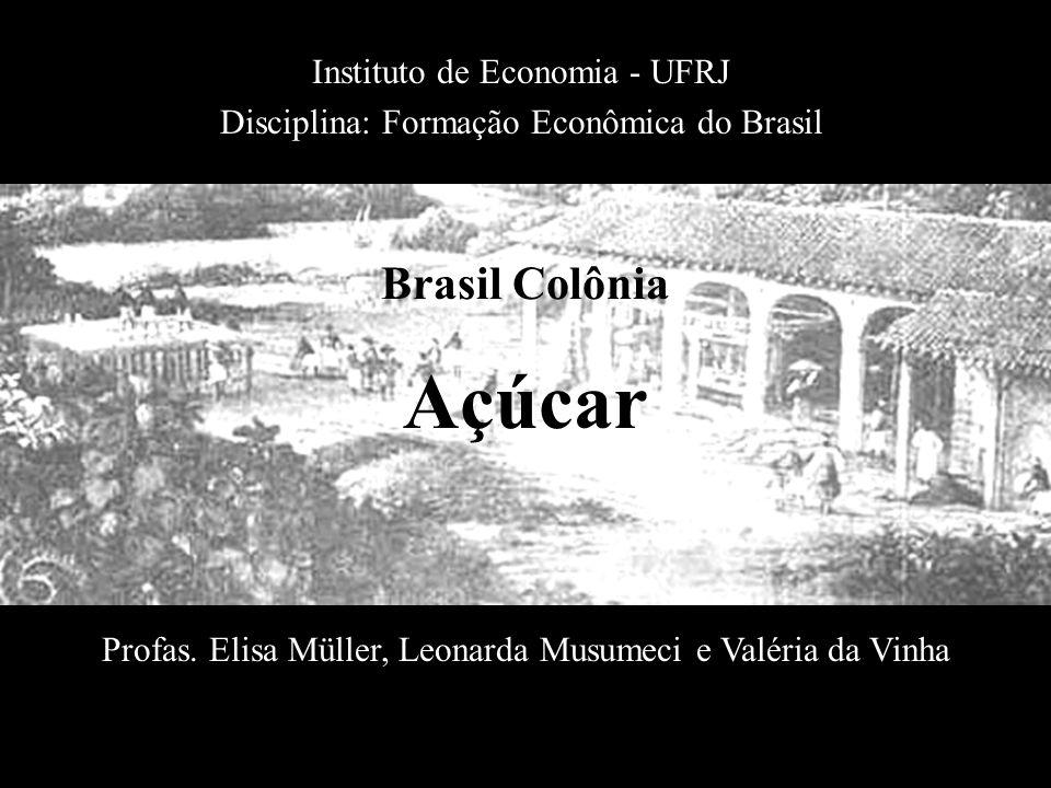 Açúcar Instituto de Economia - UFRJ Disciplina: Formação Econômica do Brasil Profas. Elisa Müller, Leonarda Musumeci e Valéria da Vinha Brasil Colônia