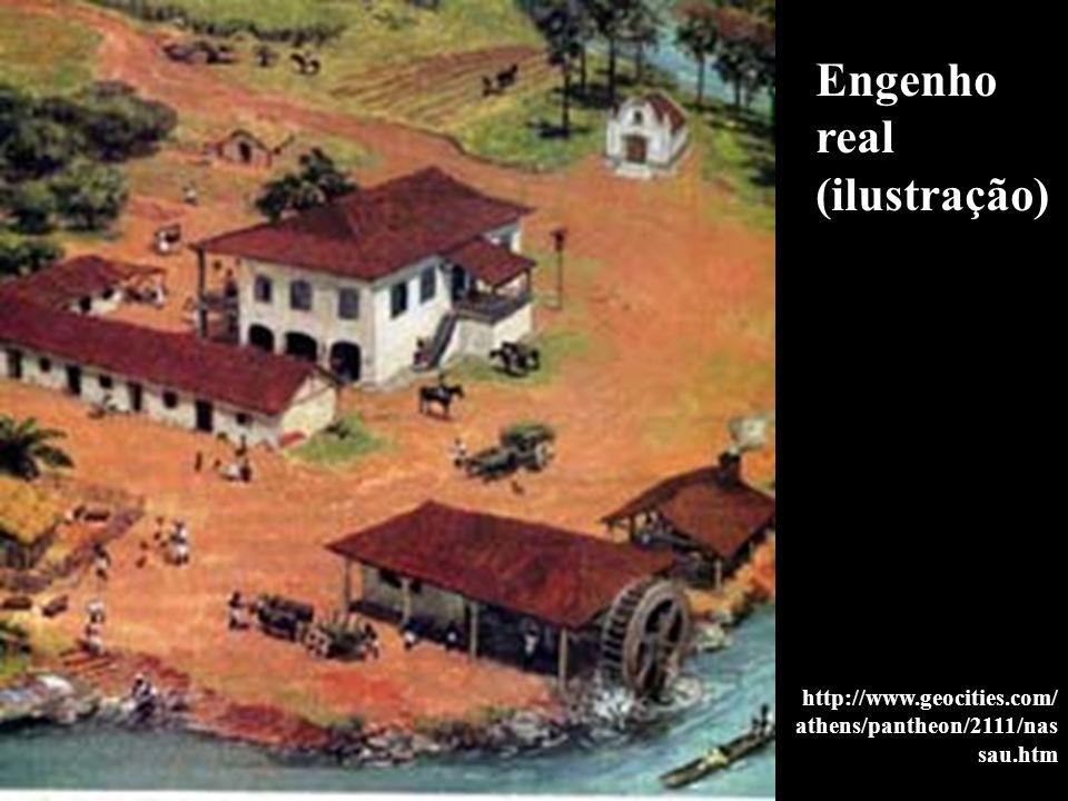 Engenho real (ilustração) http://www.geocities.com/ athens/pantheon/2111/nas sau.htm