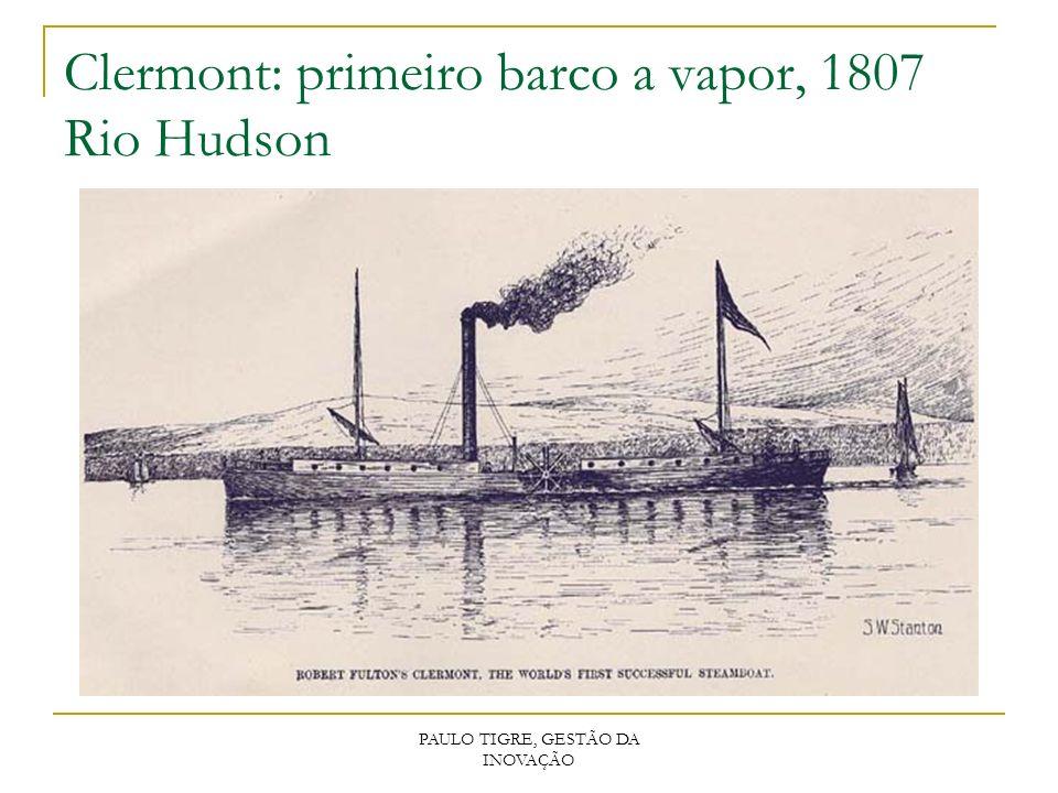 PAULO TIGRE, GESTÃO DA INOVAÇÃO Clermont: primeiro barco a vapor, 1807 Rio Hudson