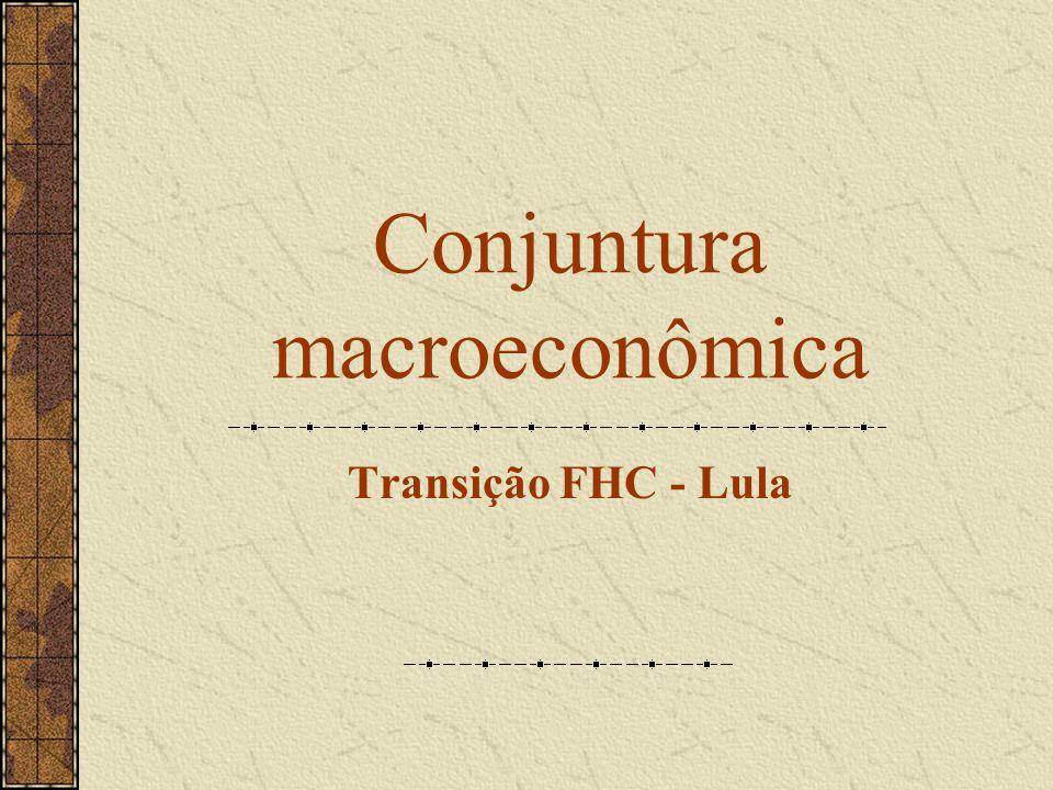 Conjuntura macroeconômica Transição FHC - Lula