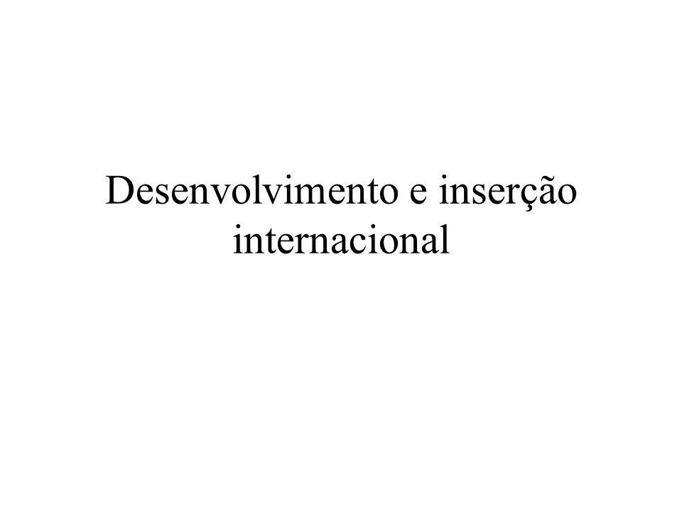 Desenvolvimento e inserção internacional