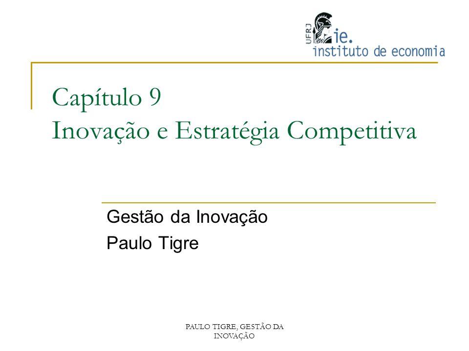 Capítulo 9 Inovação e Estratégia Competitiva Gestão da Inovação Paulo Tigre PAULO TIGRE, GESTÃO DA INOVAÇÃO
