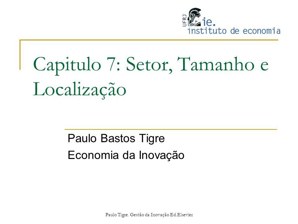 Capitulo 7: Setor, Tamanho e Localização Paulo Bastos Tigre Economia da Inovação Paulo Tigre. Gestão da Inovação Ed.Elsevier