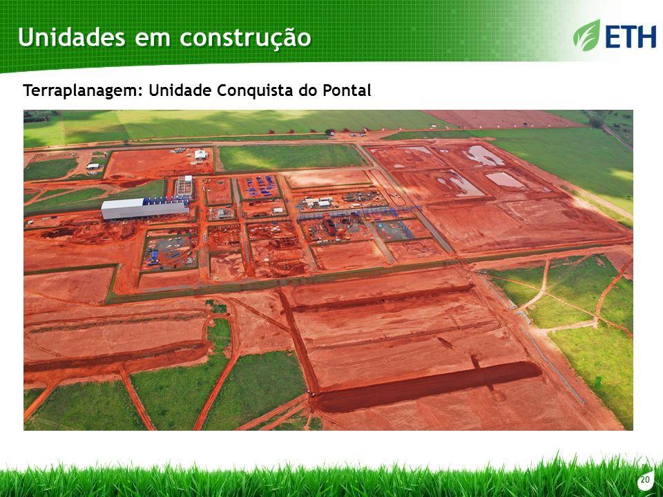 20 Unidades em construção Terraplanagem: Unidade Conquista do Pontal