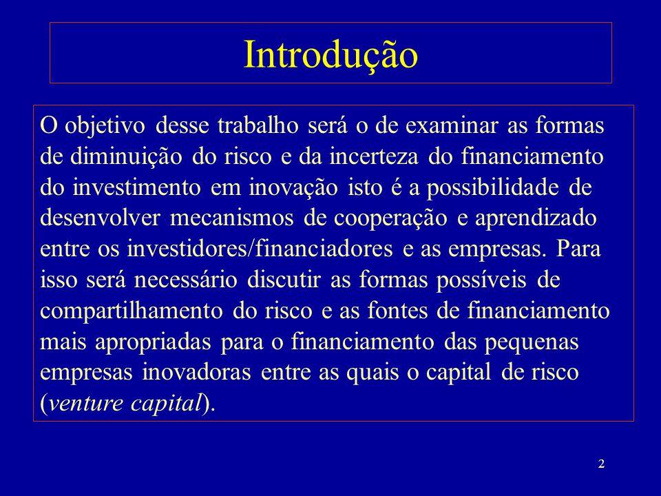 33 O FNDCT, os Fundos Setoriais de C&T e o Financiamento da Inovação no Brasil
