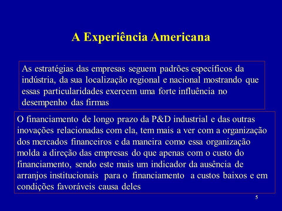 36 O FNDCT, os Fundos Setoriais de C&T e o Financiamento da Inovação no Brasil