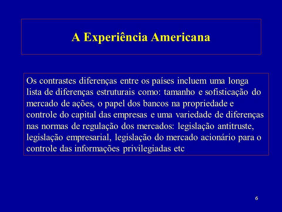 7 A Experiência Americana Fonte: NSF(2002). Adaptação do autor