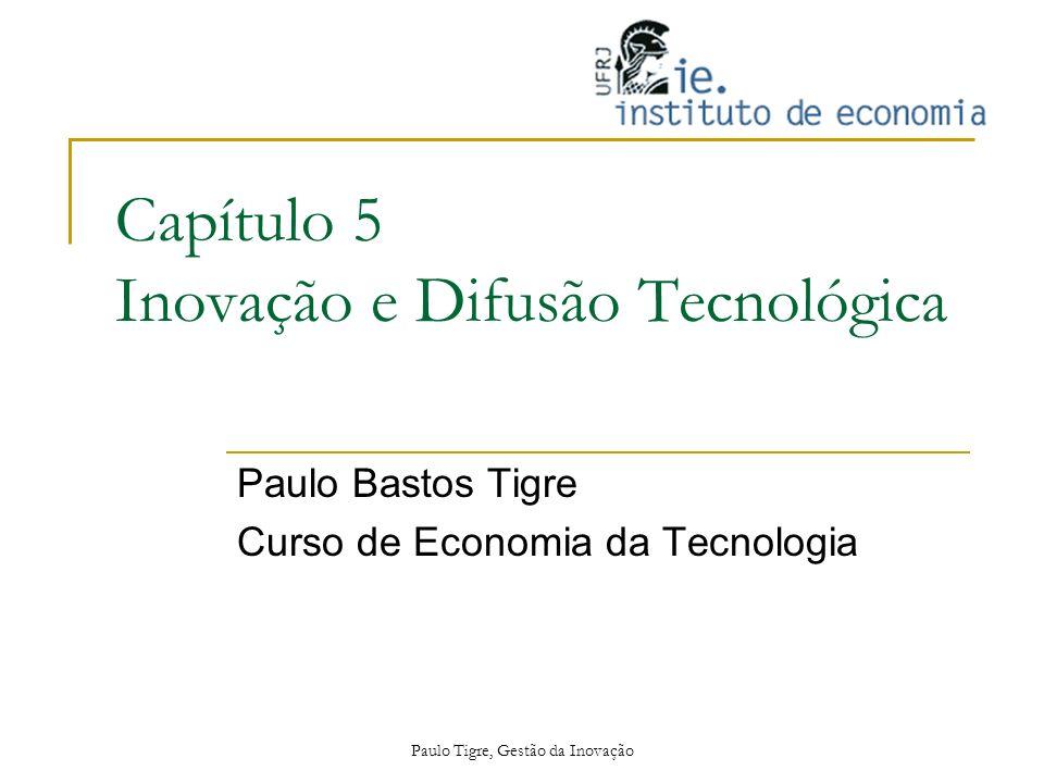 Paulo Tigre, Gestão da Inovação Capítulo 5 Inovação e Difusão Tecnológica Paulo Bastos Tigre Curso de Economia da Tecnologia