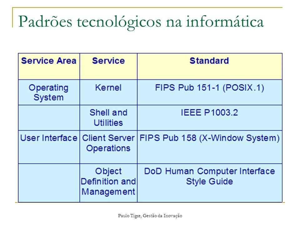 Paulo Tigre, Gestão da Inovação Padrões tecnológicos na informática