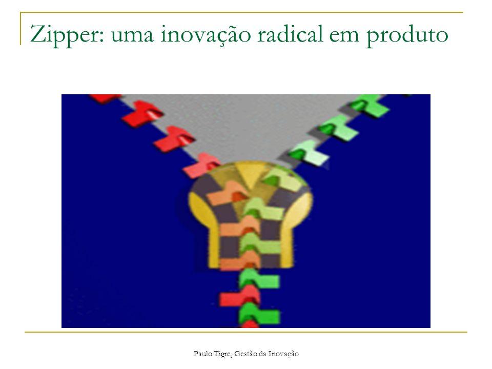 Paulo Tigre, Gestão da Inovação Zipper: uma inovação radical em produto
