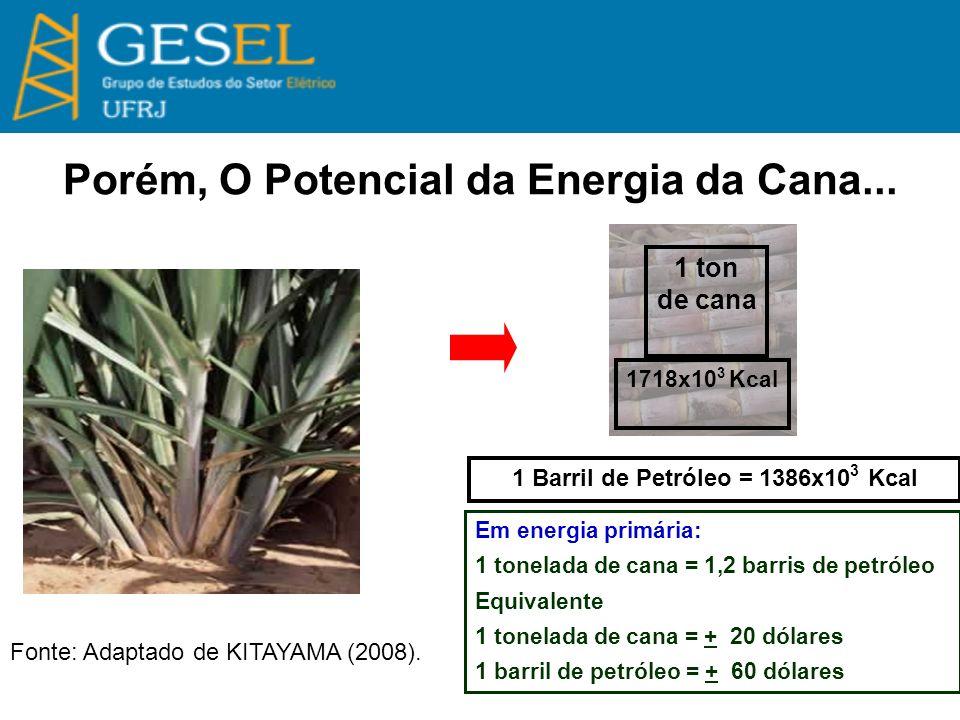Bioeletricidade ou Etanol Celulósico.