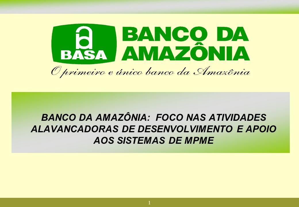 1 BANCO DA AMAZÔNIA: FOCO NAS ATIVIDADES ALAVANCADORAS DE DESENVOLVIMENTO E APOIO AOS SISTEMAS DE MPME