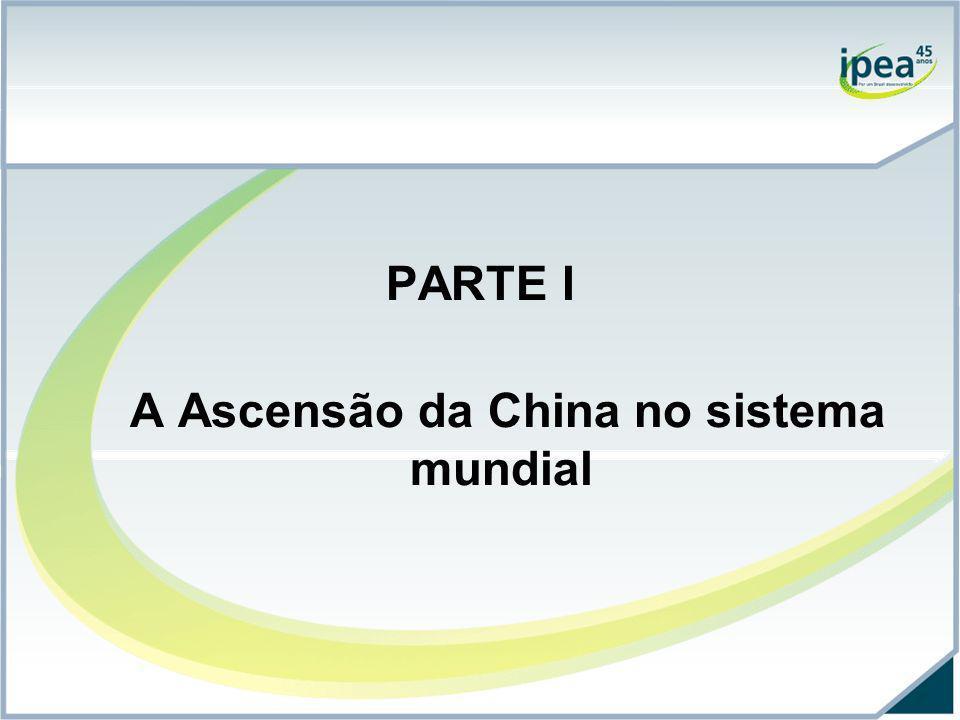 PARTE I A Ascensão da China no sistema mundial