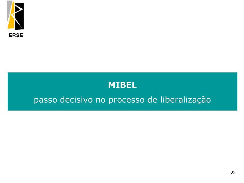 ERSE MIBEL passo decisivo no processo de liberalização 25