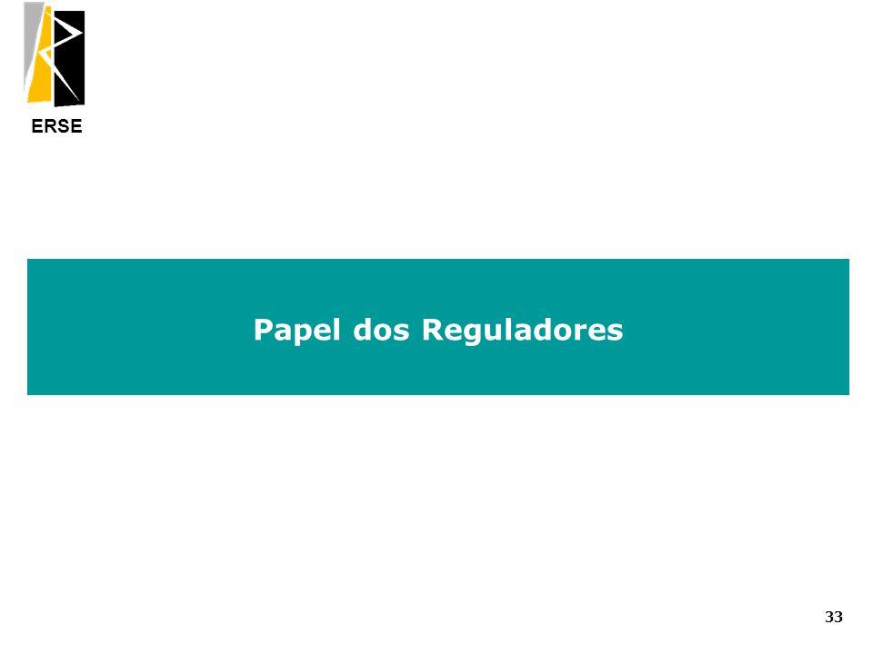 ERSE Papel dos Reguladores 33