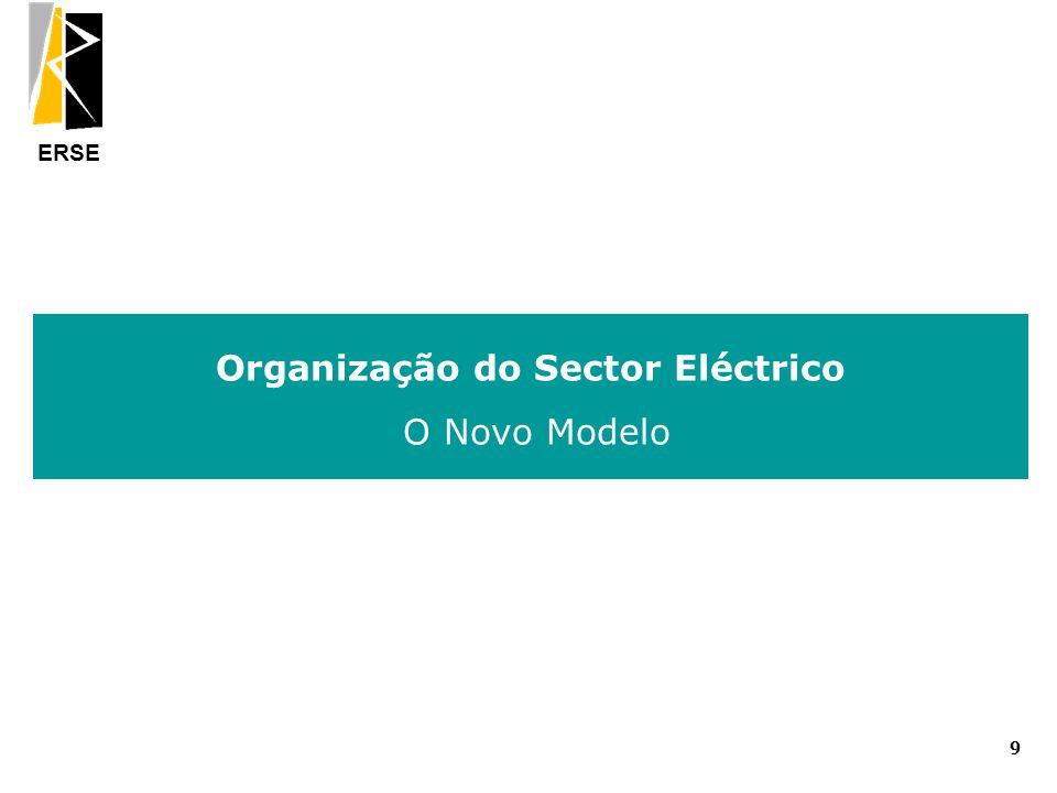 ERSE Organização do Sector Eléctrico O Novo Modelo 9