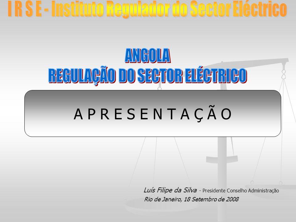 A P R E S E N T A Ç Ã O Luís Filipe da Silva - Presidente Conselho Administração Rio de Janeiro, 18 Setembro de 2008