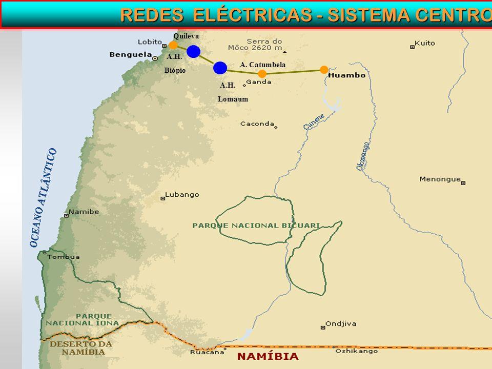 REDES ELÉCTRICAS - SISTEMA CENTRO A.H. Biópio A.H. Lomaum A. Catumbela Quileva