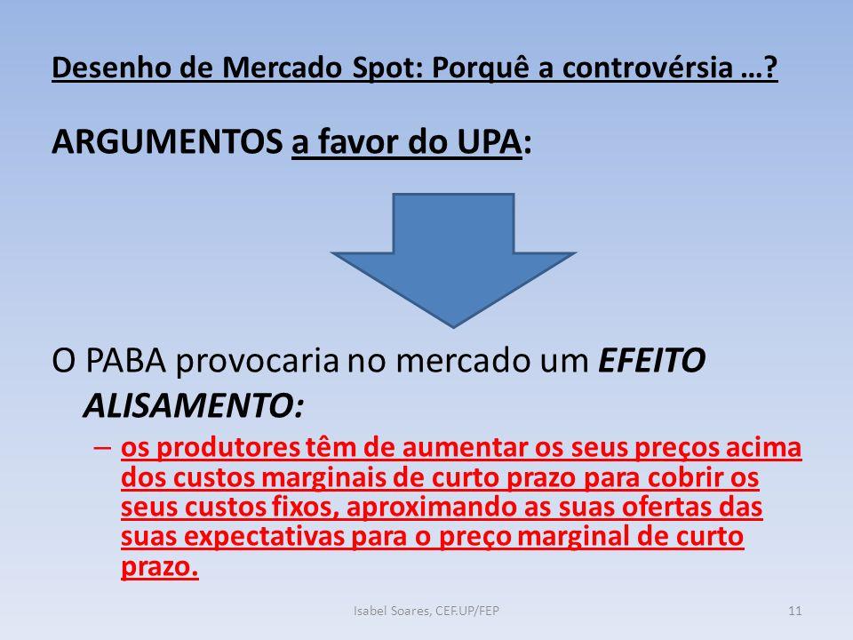Desenho de Mercado Spot: Porquê a controvérsia ….