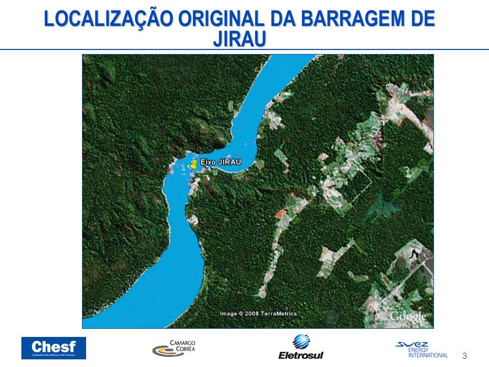3 LOCALIZAÇÃO ORIGINAL DA BARRAGEM DE JIRAU