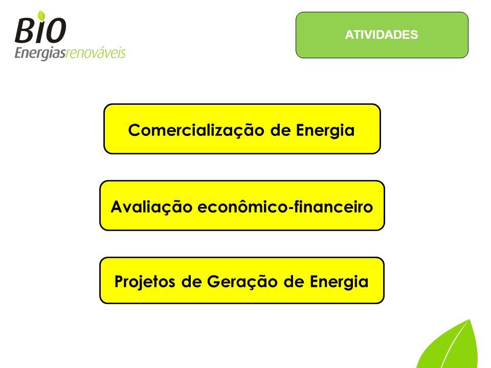 Projeção de preços (PLD) e tarifas; Comercialização de Energia (convencional e incentivada); Gestão de contratos de compra e venda de energia; Avaliação técnico-regulatória e econômica para acesso à rede básica; Estruturação de projetos para produção de biomassa; Avaliação econômico financeira de projetos de geração; Elaboração de estratégia para participação em leilões.