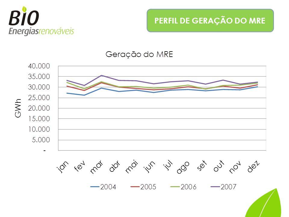 PERFIL DE GERAÇÃO DO MRE