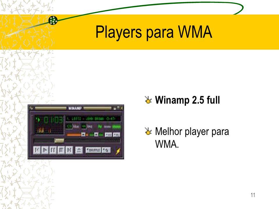 11 Players para WMA Winamp 2.5 full Melhor player para WMA.
