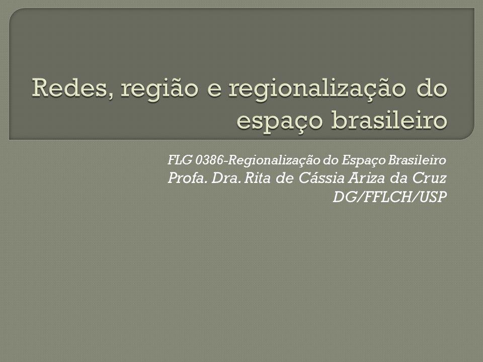 FLG 0386-Regionalização do Espaço Brasileiro Profa. Dra. Rita de Cássia Ariza da Cruz DG/FFLCH/USP