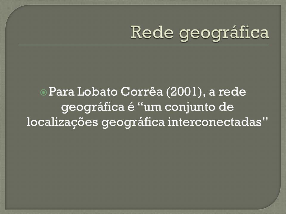 Para Lobato Corrêa (2001), a rede geográfica é um conjunto de localizações geográfica interconectadas