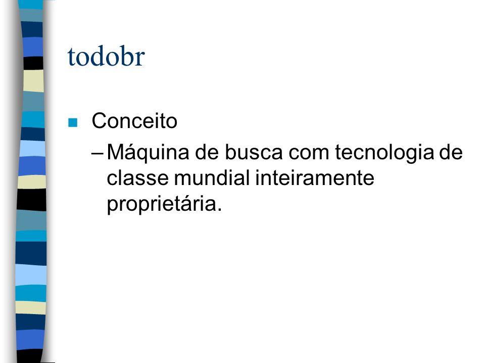 todobr n Características –Foco na Internet brasileira.