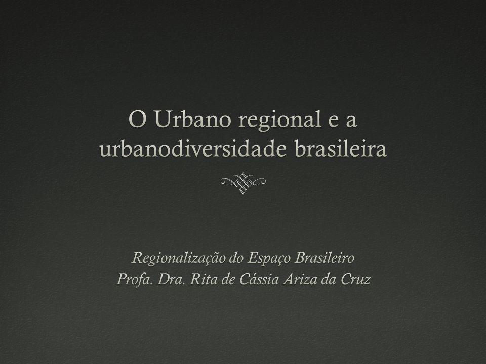 O arco do povoamento: densidade de sedes de municípios e população urbana Fonte: MCT/INPE, 2001