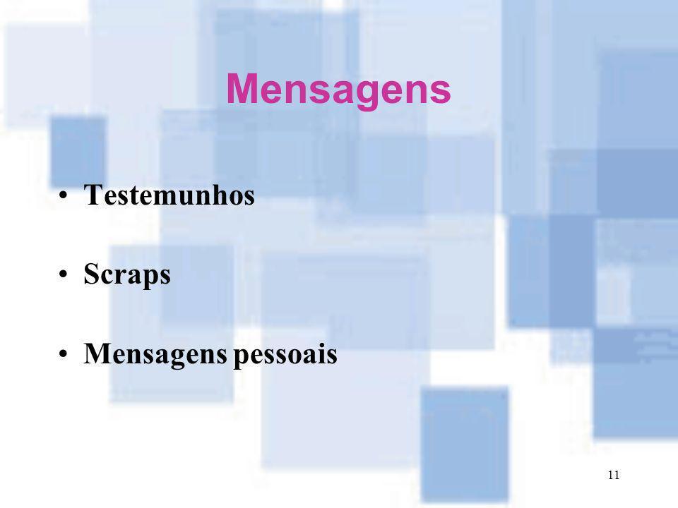 11 Mensagens Testemunhos Scraps Mensagens pessoais