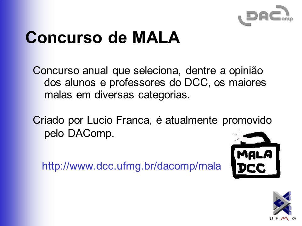 Campeonato de Futsal do DCC Copas Laudelino Pereira e Negosvaldo. Os calouros devem: Ter um time, chamado CalourosBurros. Usar o jogo de camisas dos C
