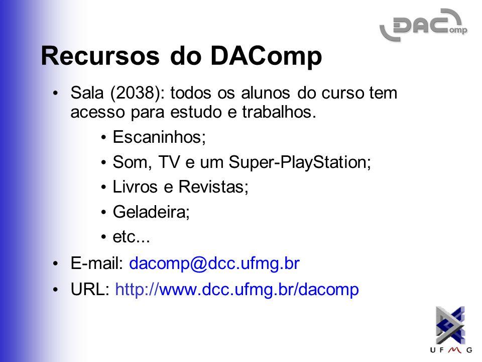 O que é? O DAComp, Diretório Acadêmico da Computação, é uma associação representativa de estudantes dos cursos de graduação e pós-graduação em Ciência