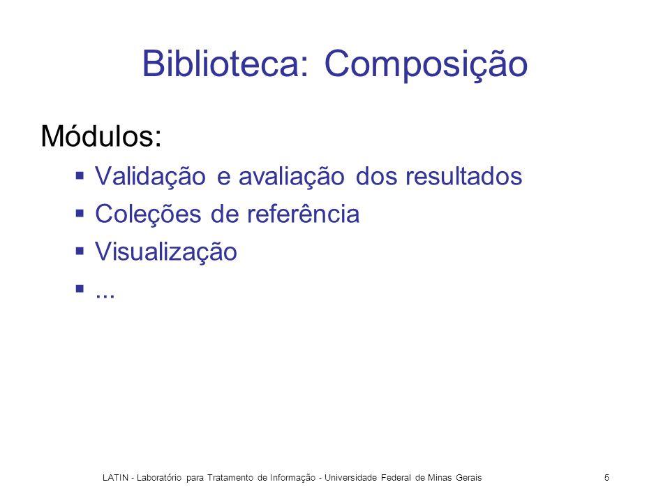 LATIN - Laboratório para Tratamento de Informação - Universidade Federal de Minas Gerais5 Biblioteca: Composição Módulos: Validação e avaliação dos re