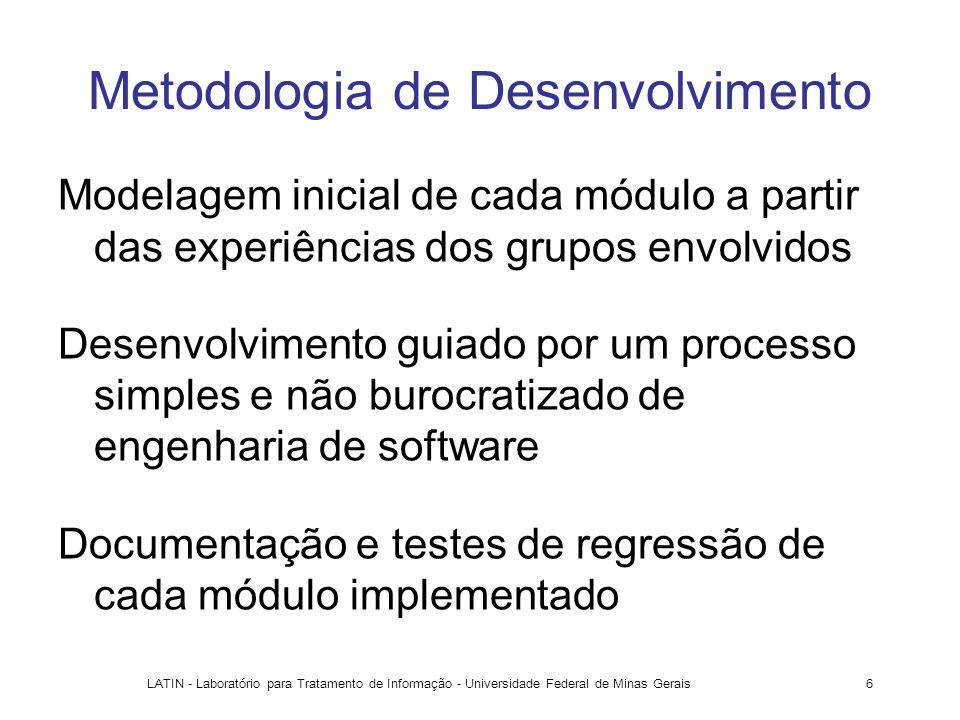 LATIN - Laboratório para Tratamento de Informação - Universidade Federal de Minas Gerais6 Metodologia de Desenvolvimento Modelagem inicial de cada mód