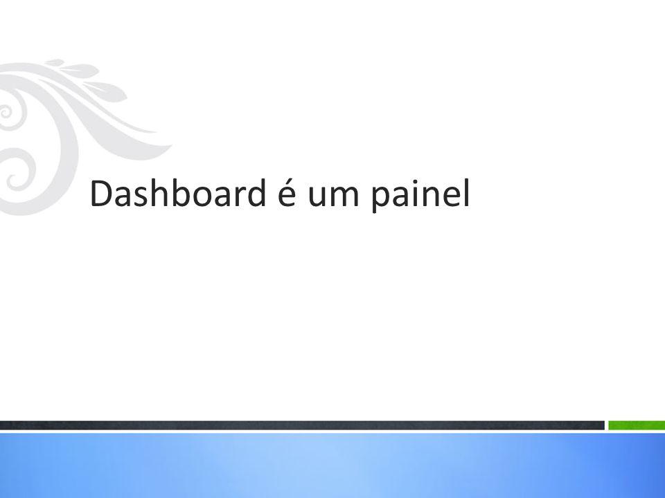 Dashboard é um painel