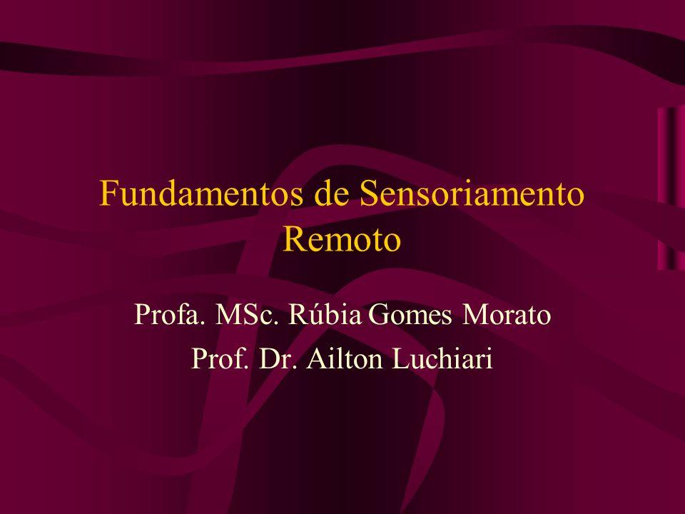 Fundamentos de Sensoriamento Remoto Profa. MSc. Rúbia Gomes Morato Prof. Dr. Ailton Luchiari