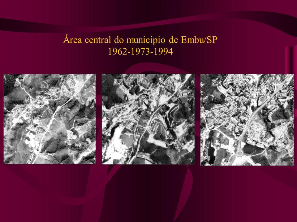 Área central do município de Embu/SP 1962-1973-1994