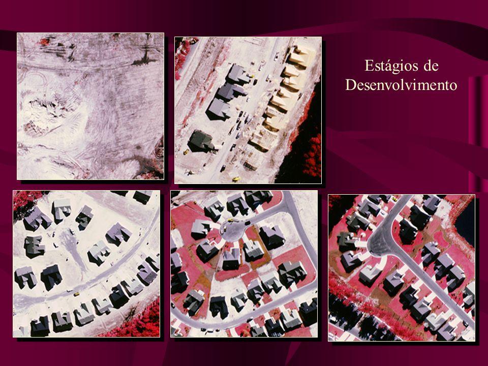 Fotografias aéreas Colorida – cor realInfravermelho falsa cor