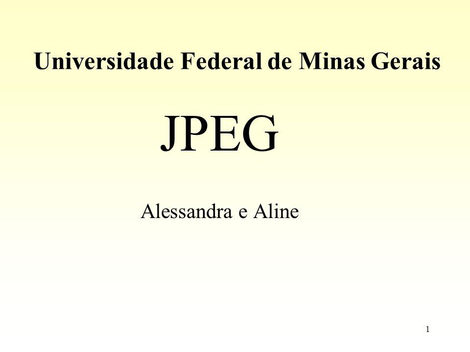 1 Universidade Federal de Minas Gerais JPEG Alessandra e Aline